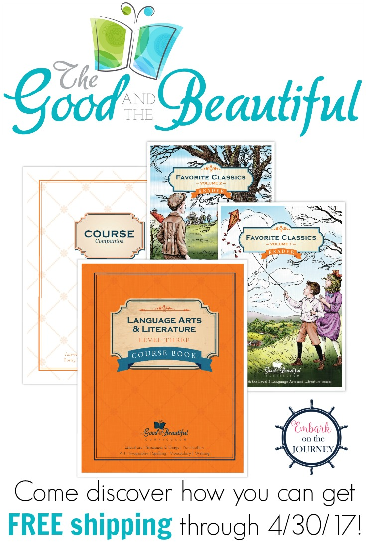 Come learn how you can get free shipping on your order from The Good and the Beautiful - home of some fabulous, Christian homeschool curriculum.