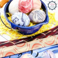 How to Dye Easter Eggs with Old Silk Ties