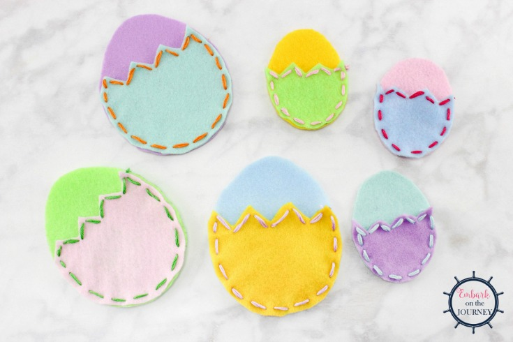 Felt Easter Egg Pouches are an easy Easter craft that kids can create on their own, and they make great Easter gifts they can give to their friends and loved ones. | embarkonthejourney.com