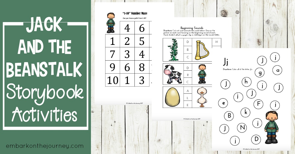 Free Jack and the Beanstalk Printables and Activities
