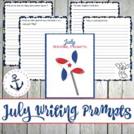 31 Elementary Writing Prompts for July