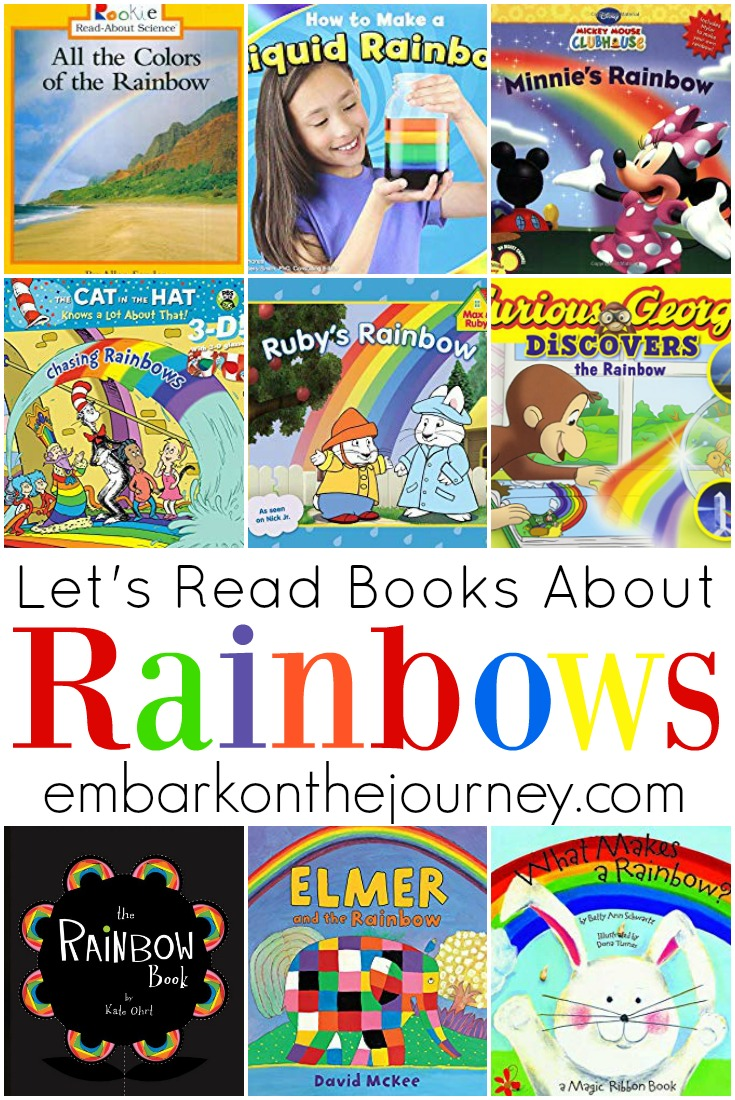Young readers will delight in these picture books about rainbows. They are all perfect for your spring and summer book baskets.