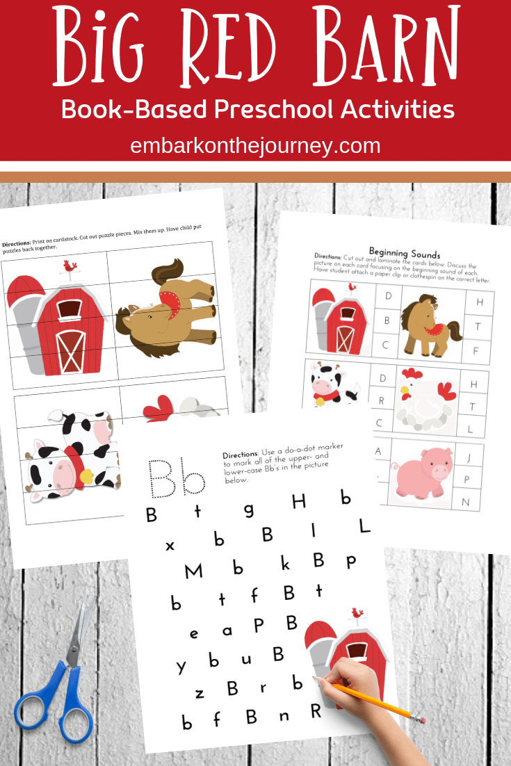 Preschoolers and kindergarteners will love these Big Red Barn book activities. Discover printables and hands-on fun!
