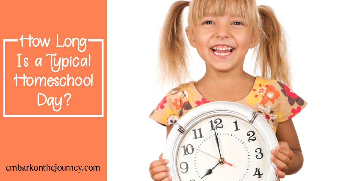 How long is a typical homeschool day? Every family is different, therefore, there is no set rule as to how long your day must be. Here are some things to consider.