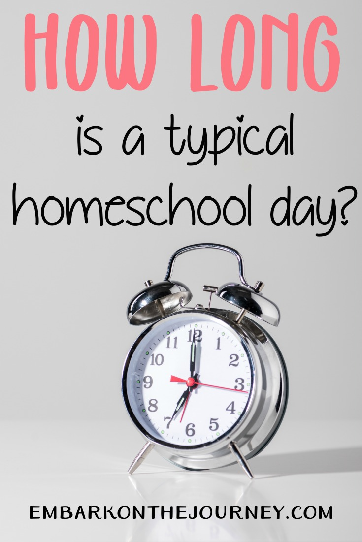 How long is a typical homeschool day? Every family is different, therefore, there is no set rule as to how long your day must be. Consider this...