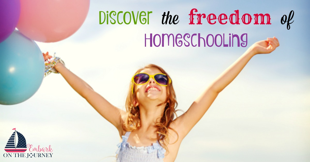 Fourteen years ago, I pulled my oldest out of public school to start our homeschool journey. I wanted to provide him with an education that met his individual needs. The freedoms I have discovered along the way have been more than I ever imagined! | embarkonthejourney.com