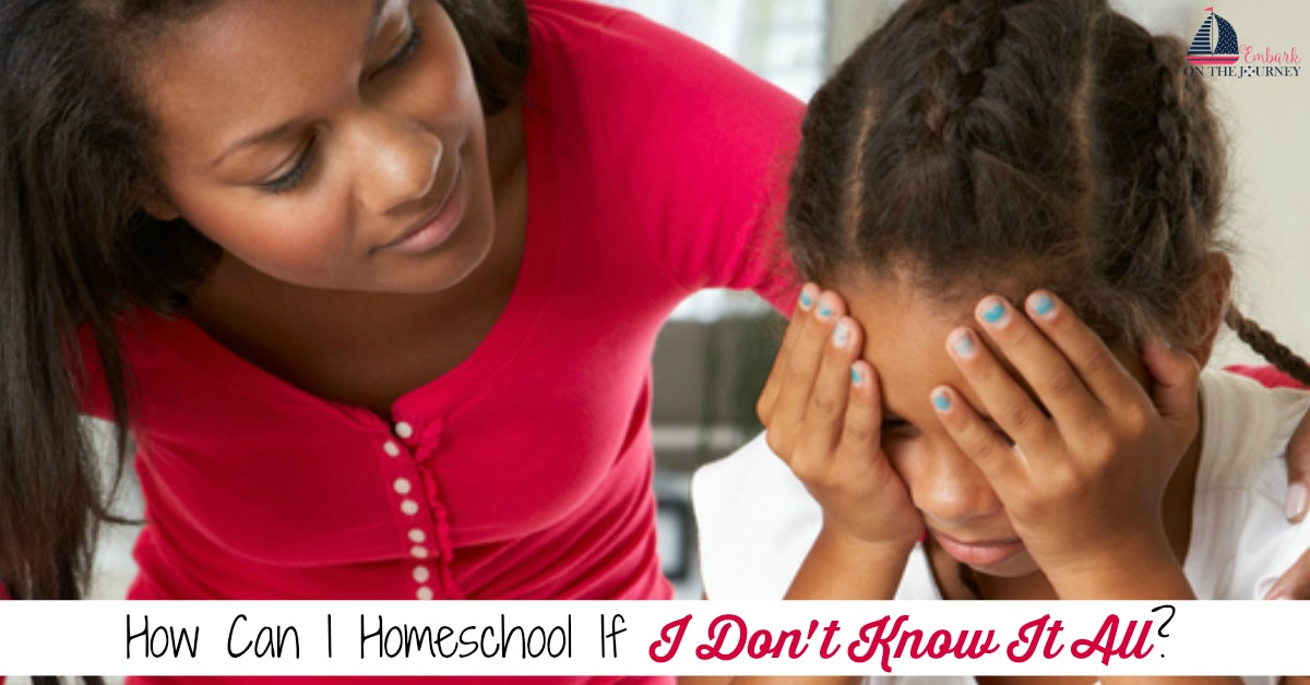 "Homeschool moms often worry about gaps in their child's education. They wonder, ""How can I homeschool if I don't know it all?"" Here are some amazing truths that will give you the confidence you need to embark on your homeschool journey! 