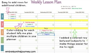 Plan It! Editable Weekly Homeschool Planner {Review and Discount Code} | embarkonthejourney.com