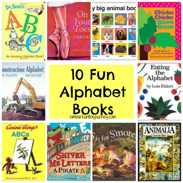 10 Fun Alphabet Books | embarkonthejourney.com
