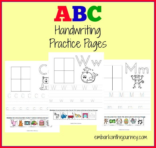 FREE ABC Handwriting Practice Pages #preschool #kindergarten #homeschool | thissweetlifeofmine.com