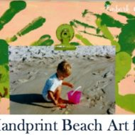 Easy Handprint Beach Craft for Kids