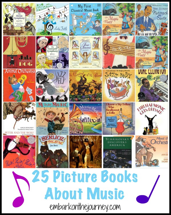 These music picture books are the perfect supplement for your music and music appreciation studies. | embarkonthejourney.com