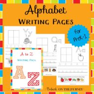 Alphabet Handwriting Pages for Beginning Writers