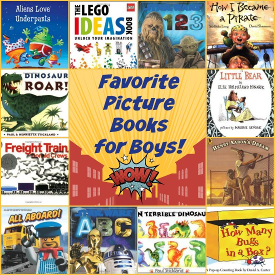 25 Favorite Picture Books for Boys | embarkonthejourney.com