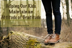 Helping our kids maintain an attitude of gratitude is a yearlong lesson - not just one for November. | embarkonthejourney.com