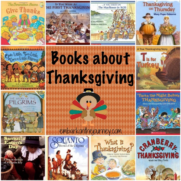 Books about #Thanksgiving | embarkonthejourney.com