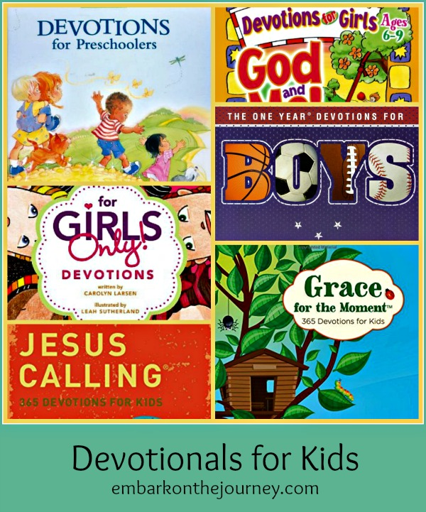 Devotionals for Kids | embarkonthejourney.com