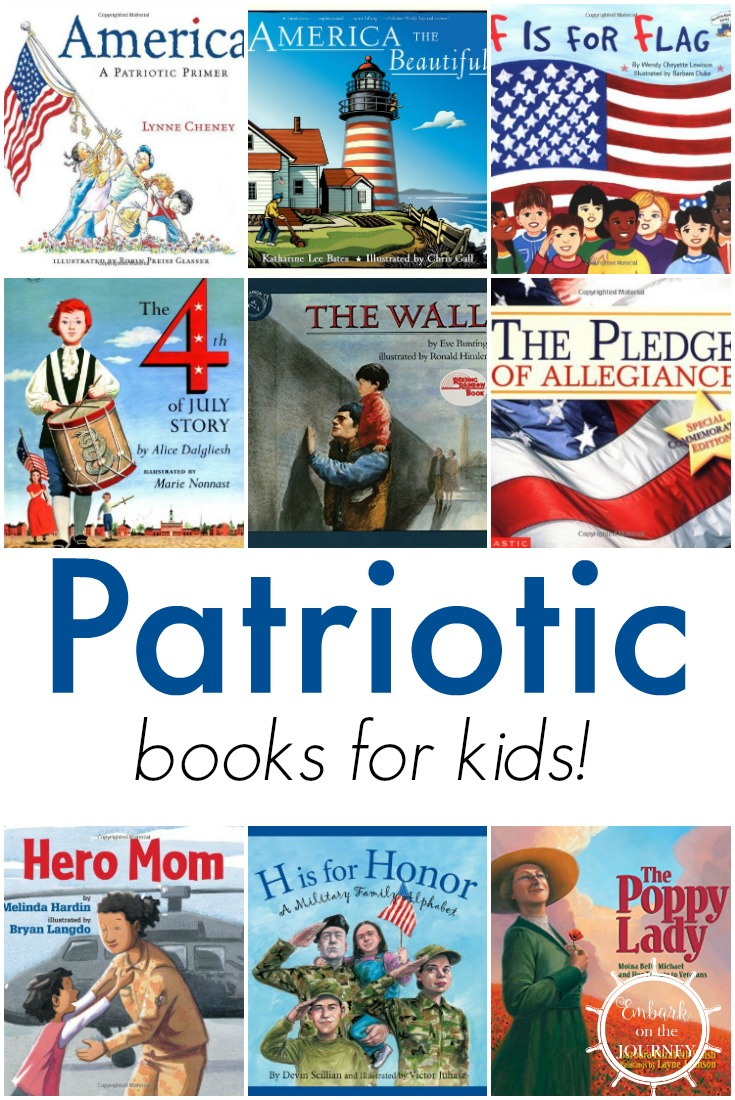 These patriotic picture books are perfect for Memorial Day, Fourth of July, Veteran's Day, and every day!