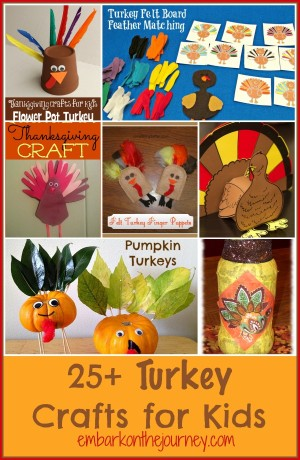 Turkey Crafts for Kids:  A Round-Up