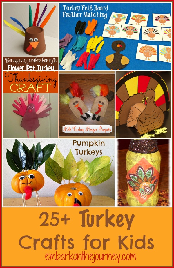 25+ Turkey Crafts for Kids | embarkonthejourney.com