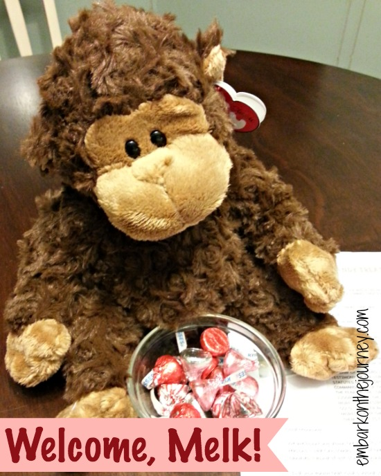 #Melk the Christmas Monkey helps keep Christ in Christmas! | embarkonthejourney.com