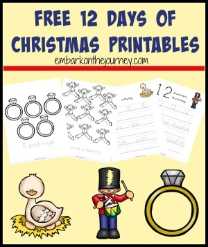 12 Days Of Christmas Printables And Activites