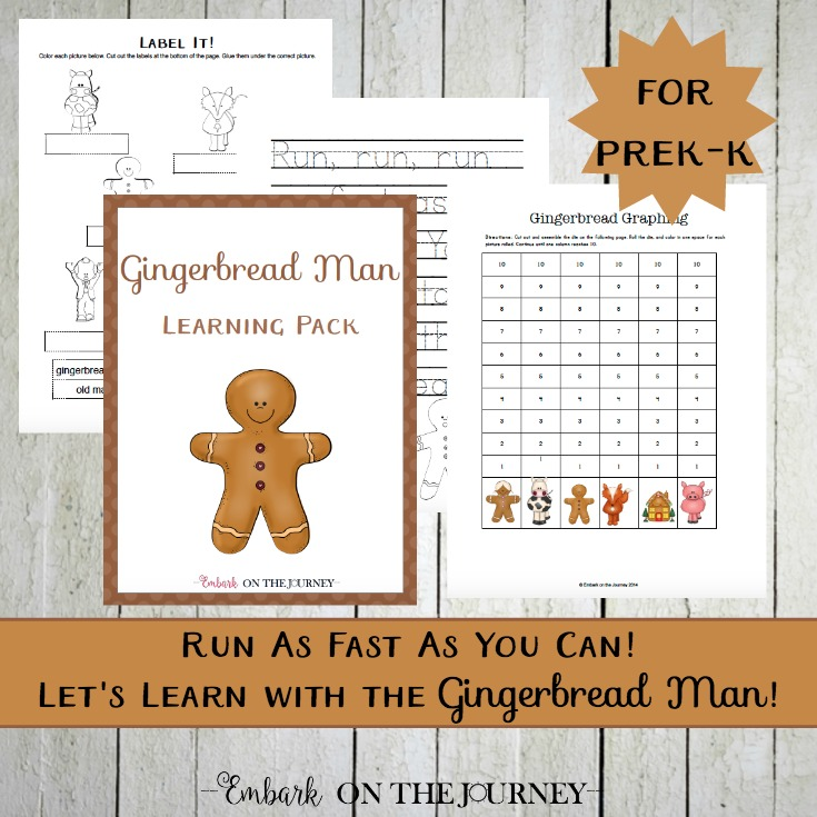 Gingerbread Man Unit Study and Printable for PreK-K
