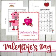 Valentines Day Printable for PreK-Grade 1