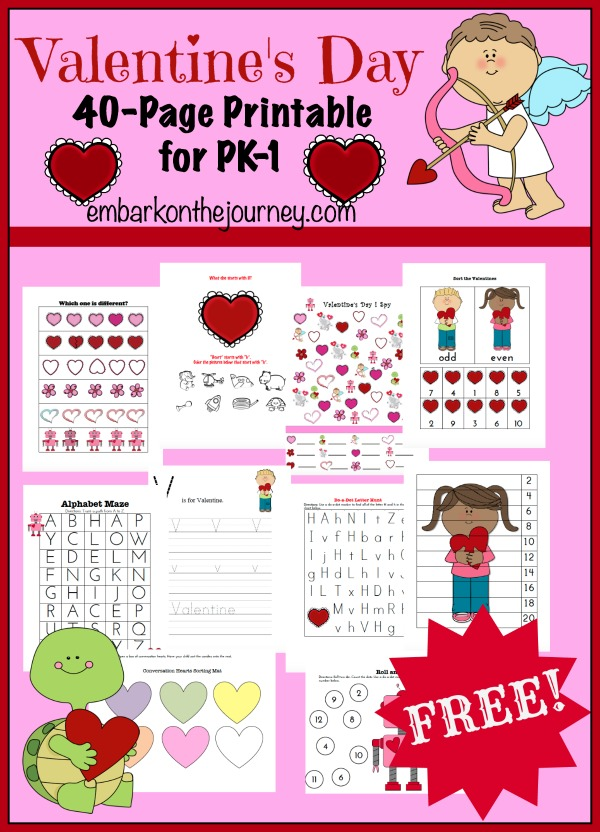 Free Homeschool Helps Valentines Day. Family Friendly Valentine Printables By Fun With A Message. Preschool. Valentine S Day Worksheet For Preschool At Clickcart.co