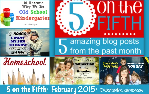 5 on the Fifth: February 2015 | embarkonthejourney.com