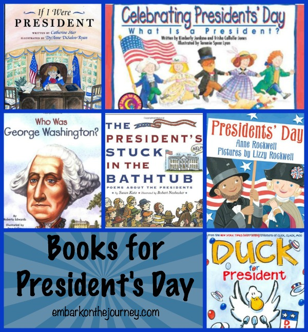 Books for Presidents Day | embarkonthejourney.com