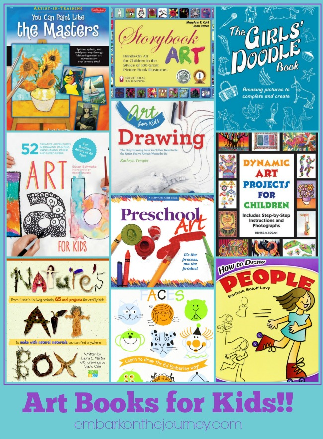 Do you have a budding artist in your life? Check out these fabulous art books for kids to get their creativity flowing! | embarkonthejourney.com