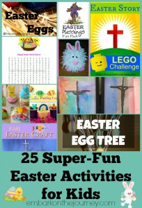 25 Easter Activities for Kids of All Ages | embarkonthejourney.com