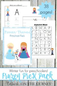 Your little FROZEN fans will love this free printable for preschool and kindergarten. | embarkonthejourney.com