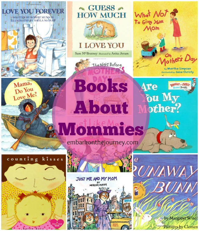 Books about mommies just in time for Mother's Day! | embarkonthejourney.com