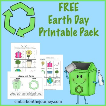 Celebrate Planet Earth with these fun Earth Day printables! | embarkonthejourney.com
