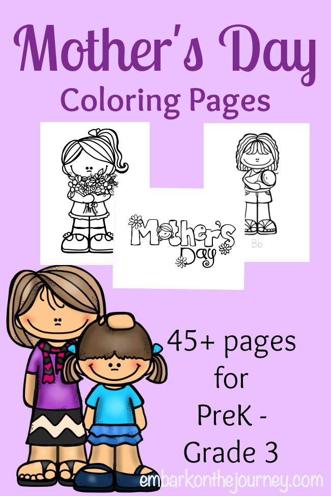 Free Mother's Day Coloring Pages | embarkonthejourney.com
