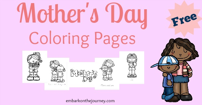 Free Mother's Day coloring pages for PreK-Grade 3! | embarkonthejourney.com