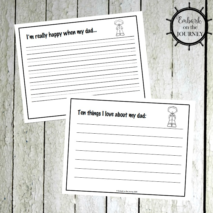 Father's Day Writing Prompts for Kids