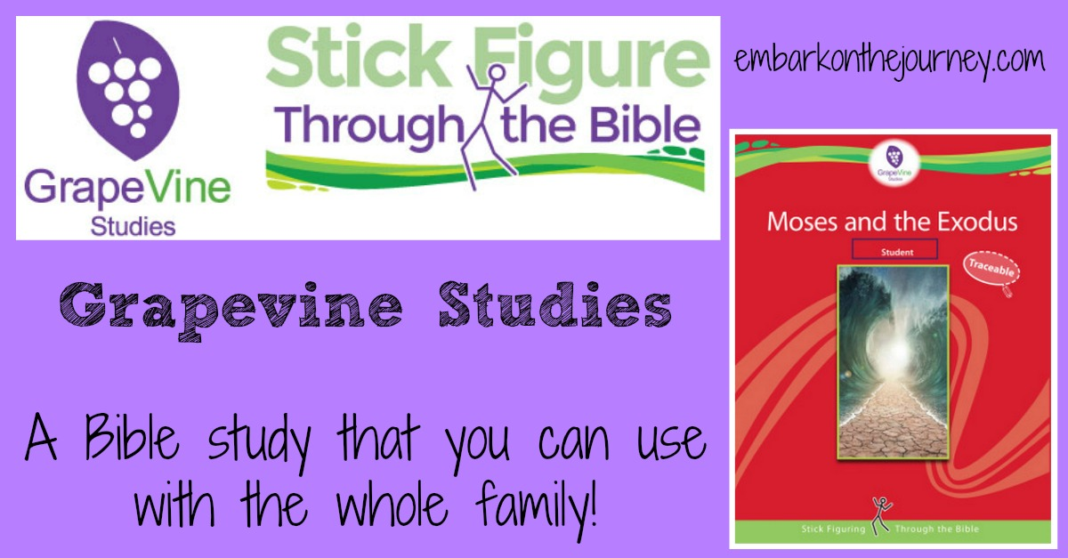 If you're looking for a Bible study you can use with the whole family, check out Grapevine Studies! Stick figure your way through the Bible! | embarkonthejourney.com