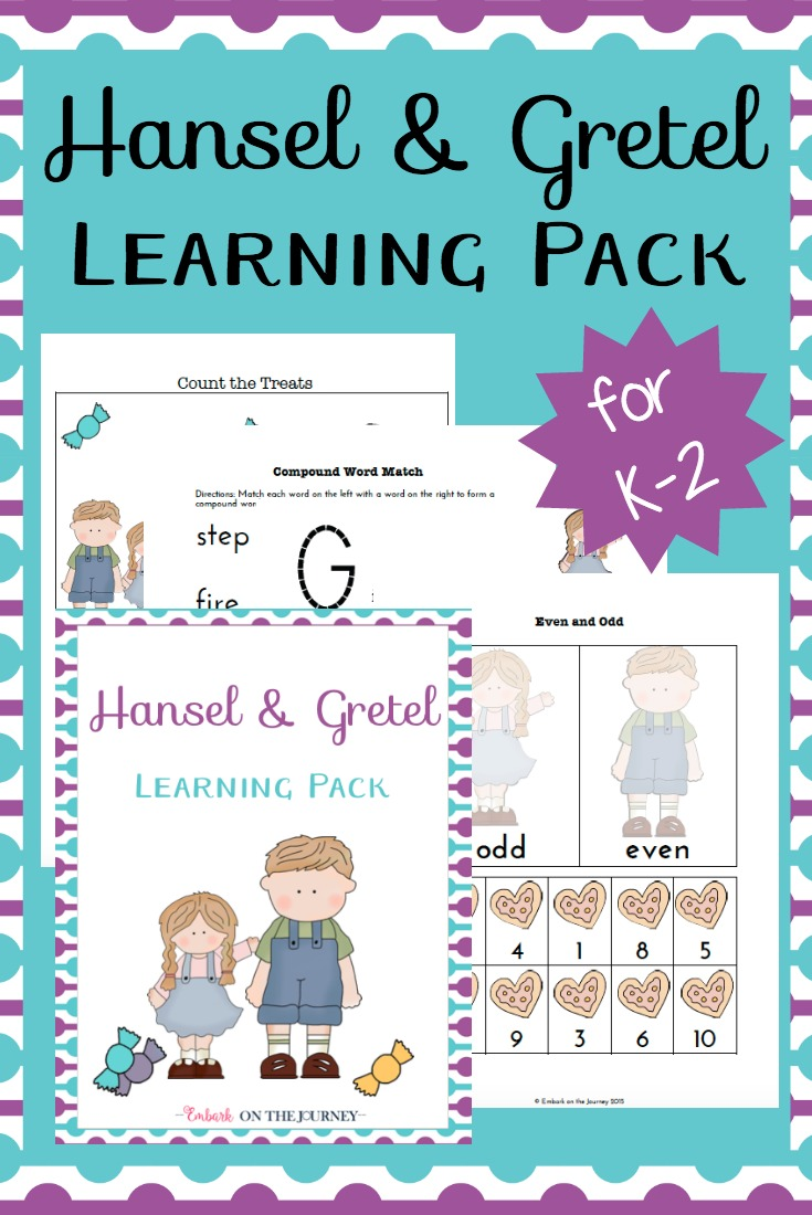 You won't believe this amazing collection of hands-on Hansel and Gretel activities and a FREE PreK-K printable. | embarkonthejourney.com