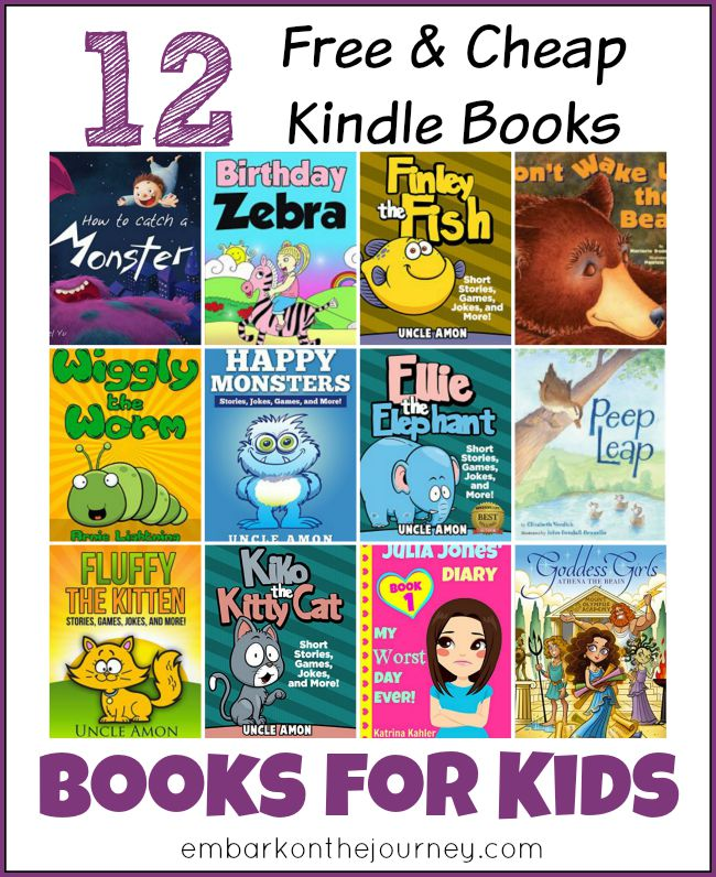12 Free and Cheap Kindle Books for Kids | embarkonthejourney.com