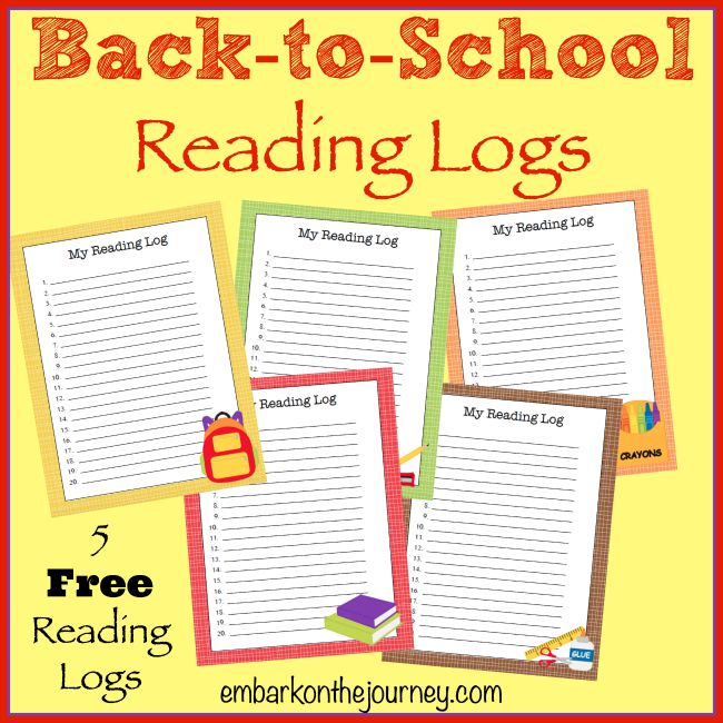 picture about Free Printable Reading Logs referred to as No cost Printable Again-toward-College or university Looking through Logs - Homeschool