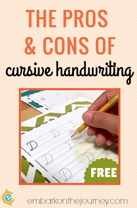 The Pros and Cons of Cursive Handwriting | embarkonthejourney.com