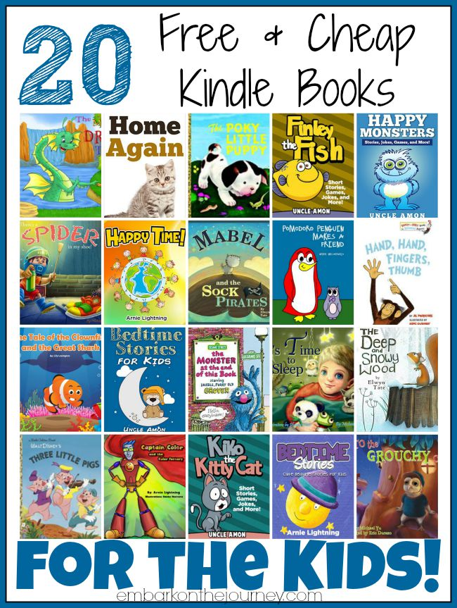 20 Free and Cheap Kindle Books for Kids | embarkonthejourney.com