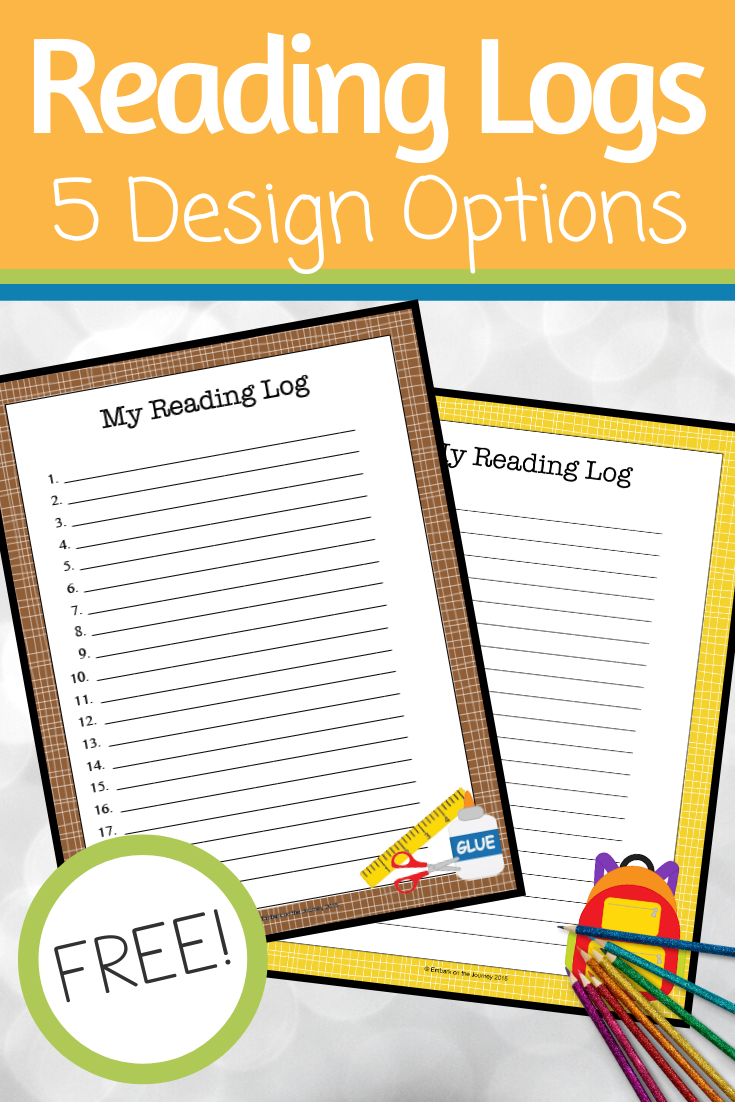 Free printable reading logsfor home or classroom use! These are perfect for summer reading logs, daily reading logs, and more. Great for all ages.