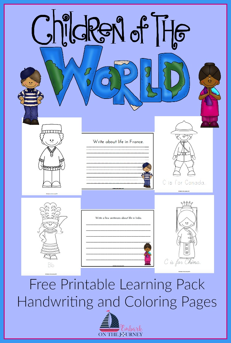 FREE Children Around the World Learning Pack for Homeschool