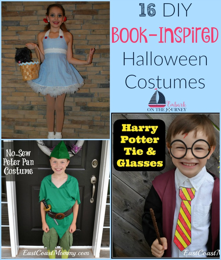 If you're looking for some last-minute costume ideas, check out these 16 DIY book-inspired Halloween costumes. | embarkonthejourney.com