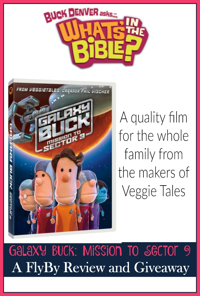 Galaxy Buck: Mission to Sector 9 is a new film from the makers of Veggie Tales. Your little ones will enjoy the antics of Buck and his crew as they travel into outer space to carry God's message to all corners of the Milky Way. Enter to win a copy of your own! | embarkonthejourney.com
