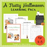 A Nutty Halloween Printable for K-3
